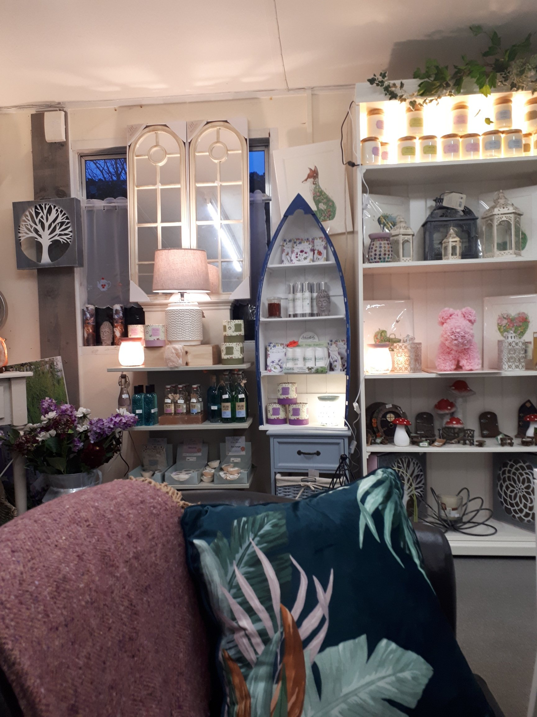 Internal view of the garden centre shop