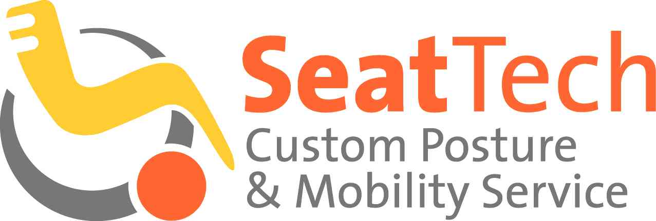 SeatTech customer posture and mobility service logo with wheelchair symbol