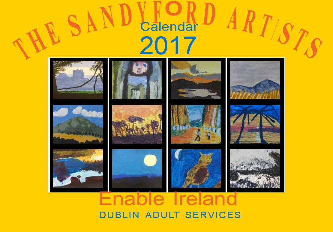 Front cover of Artists Calendar 2017