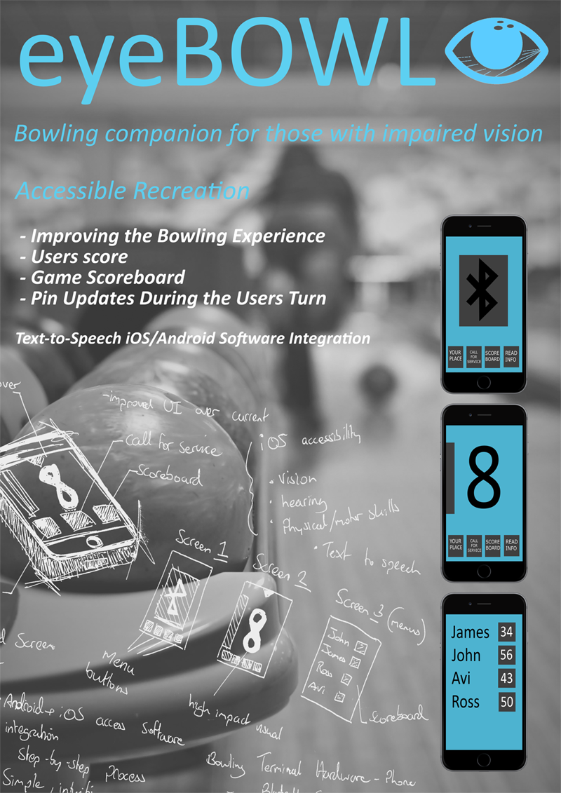 eyeBowl accessible Bowling game information