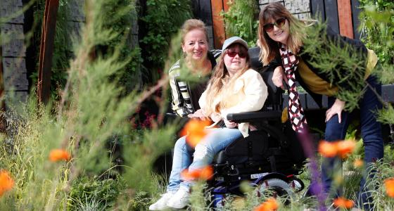 Fionnuala O'Donovan, Hailey Bowes and Linda McKeown posing in garden