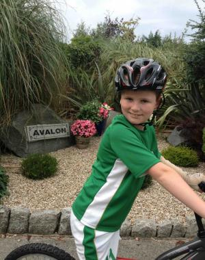 Jack Hersee (aged 10) on his bike