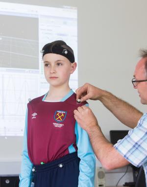 David Swords  getting 3D Gait analysis with Enable Ireland and Cork Institute of technology
