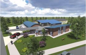 An artists impression of the planned new Children's Services building in Cork