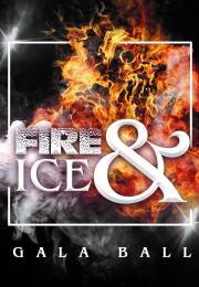IMage with fire explosion in background and fire & Ice written in text