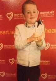Jack receiving the Child Courage Award