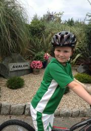 Jack Hersee (age 10) on his bike